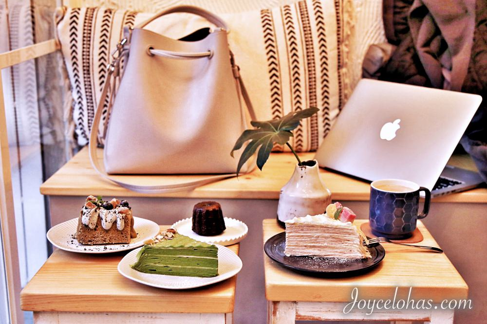 大安區小巷裡的人氣咖啡廳♥舒適圈 Comfort Zone♥ 限量法式甜點 千層蛋糕 抹茶 可麗露 生日蛋糕(東區/遠企商圈/捷運六張犁站)♥ JoyceWu。食記